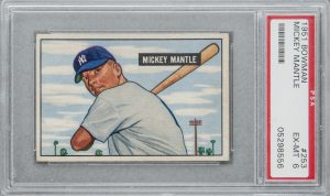 Mickey Mantle Rookie Card 1951 Bowman #253