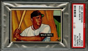 Willie Mays rookie card 1951 Bowman #305