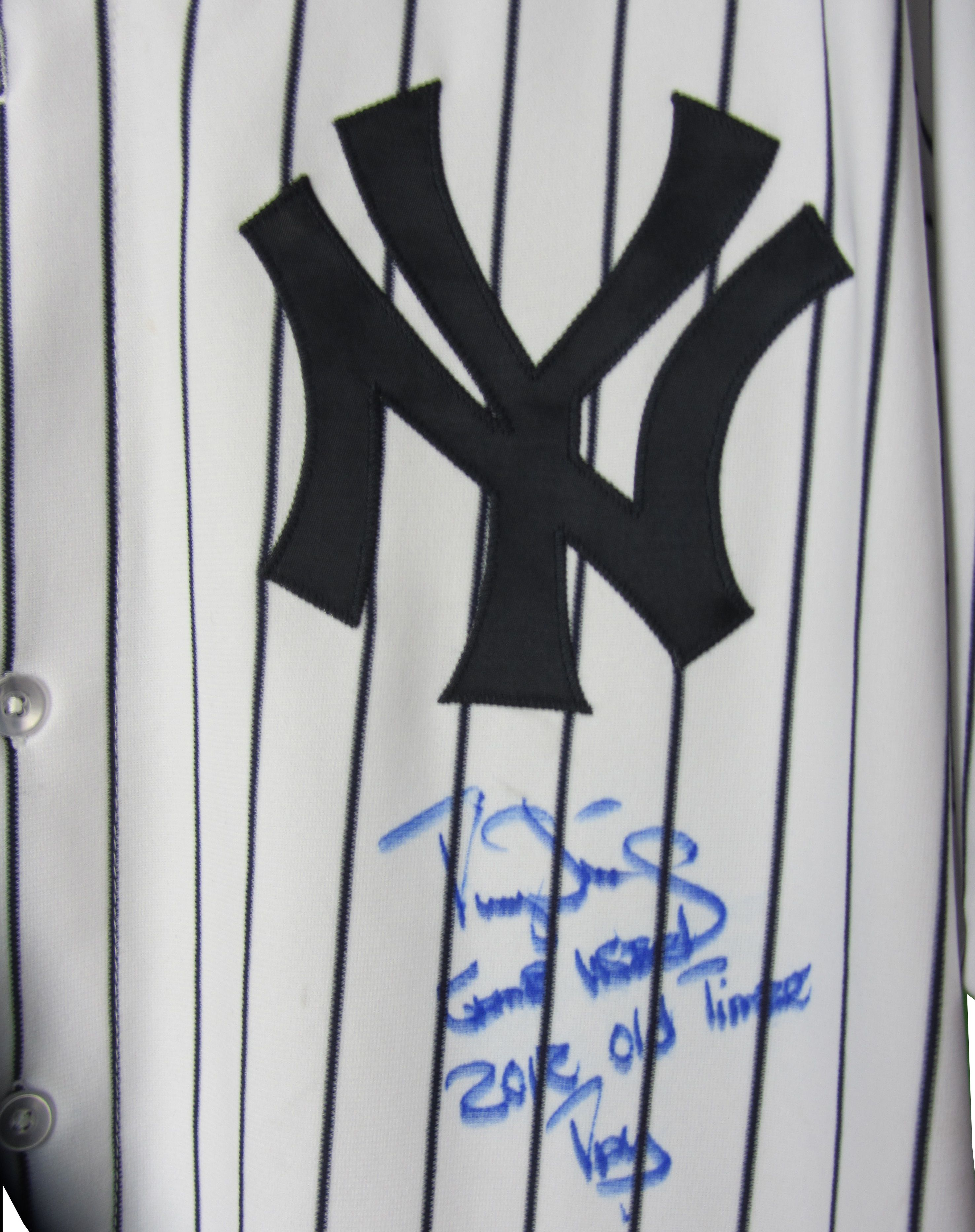 107db8b5d88 Darryl Strawberry Game Worn and Signed Yankees 2012 Old-Times Game Jersey.  Prev Next