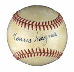 "Incredible Single Signed Honus Wagner N.L. Ball with PSA/DNA ""Near Mint 7 ""Signature! (Player LOA)"