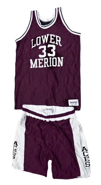 Kobe Bryants Game Used Lower Merion High School Road Maroon Uniform (Bryant LOA and MEARS A-10)