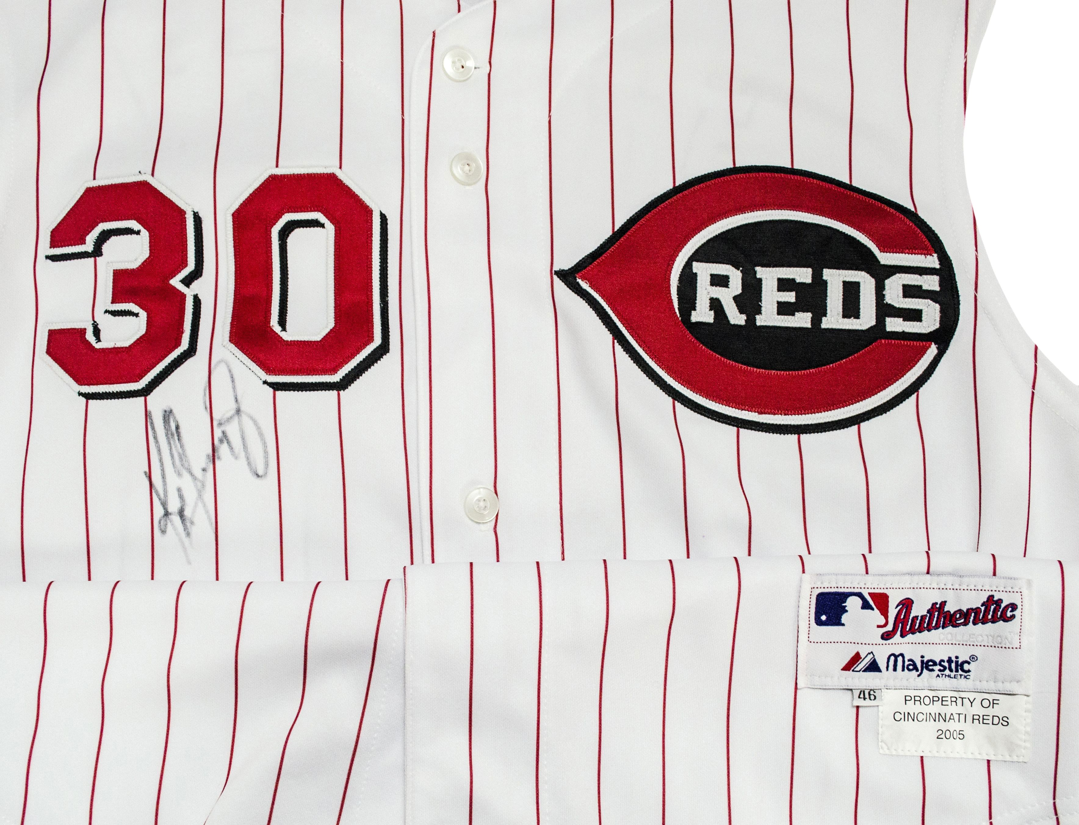 f4125ec94ed Lot Detail - Ken Griffey Jr. 2005 Game Worn and Signed Cincinnati Reds  Jersey (MEARS A-10)