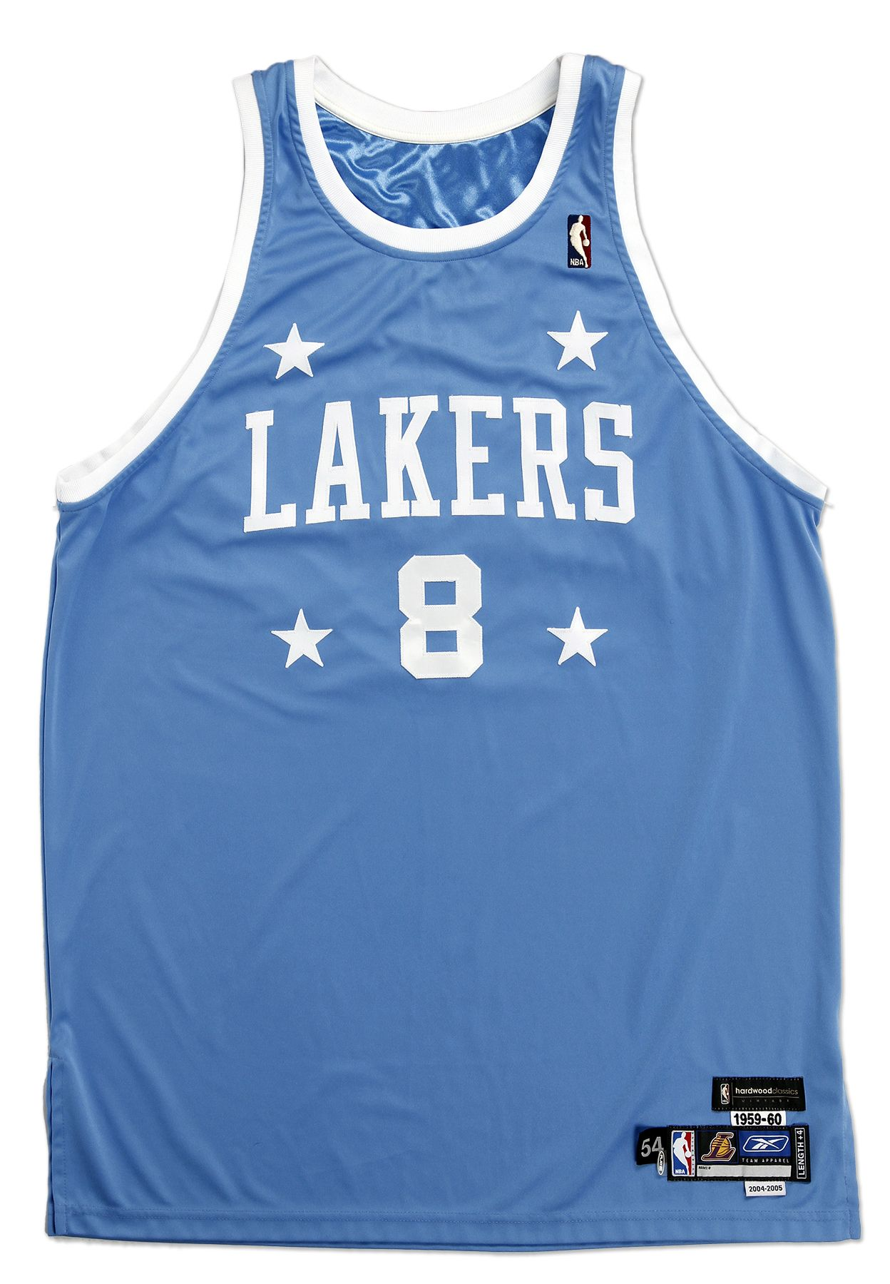 812050386 Lot Detail - 2004-05 Kobe Bryant Game Worn Throwback Los Angeles Lakers  Powder Blue Jersey (DC Sports)
