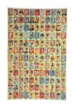 Un-Cut Sheet Collection of Football Cards (5 Sheets) Incl. 1960 Fleer complete set.