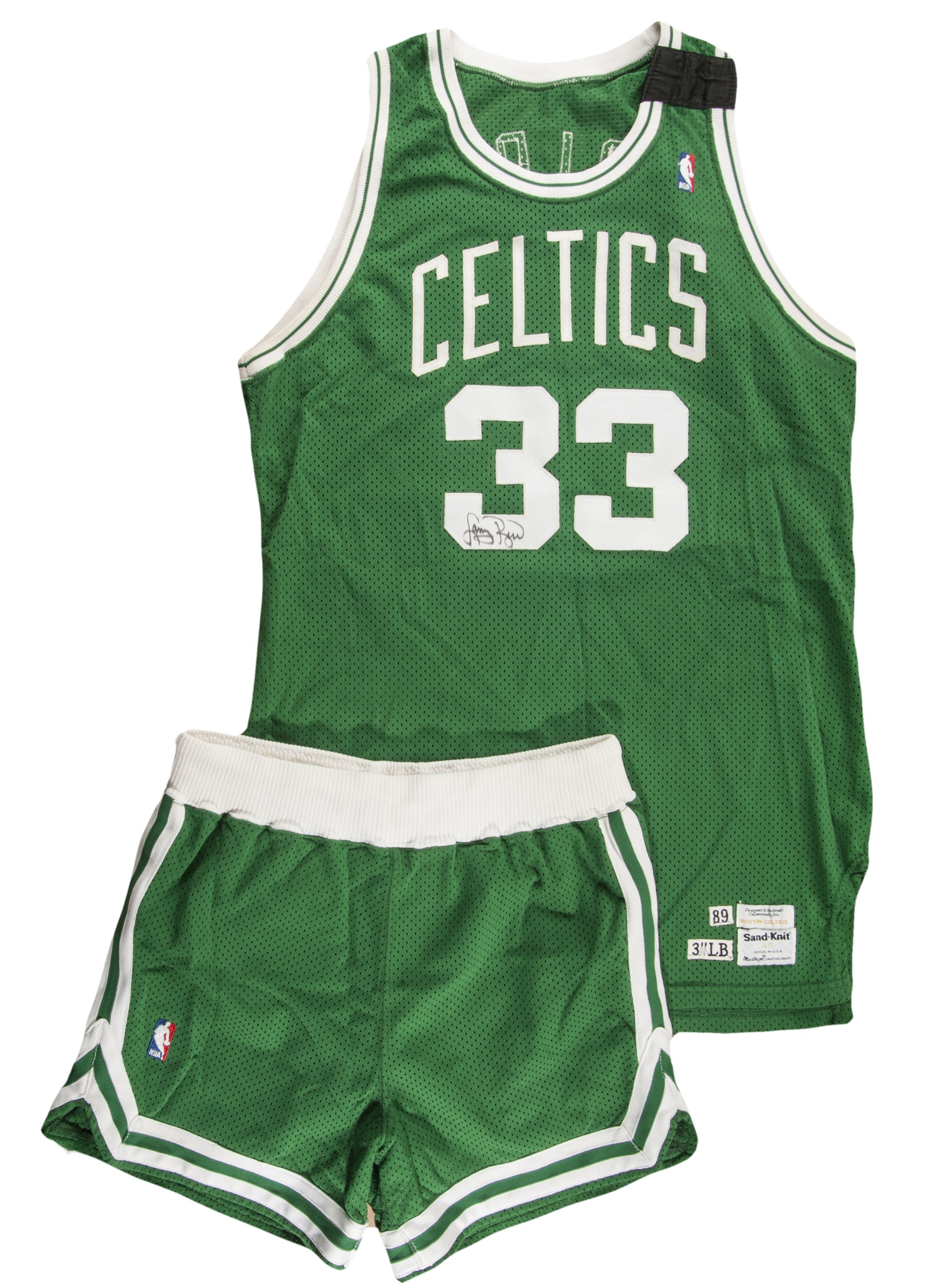 fe9a221acfec 1989 90 Larry Bird Game Worn and Signed Boston Celtics Road Jersey   Shorts