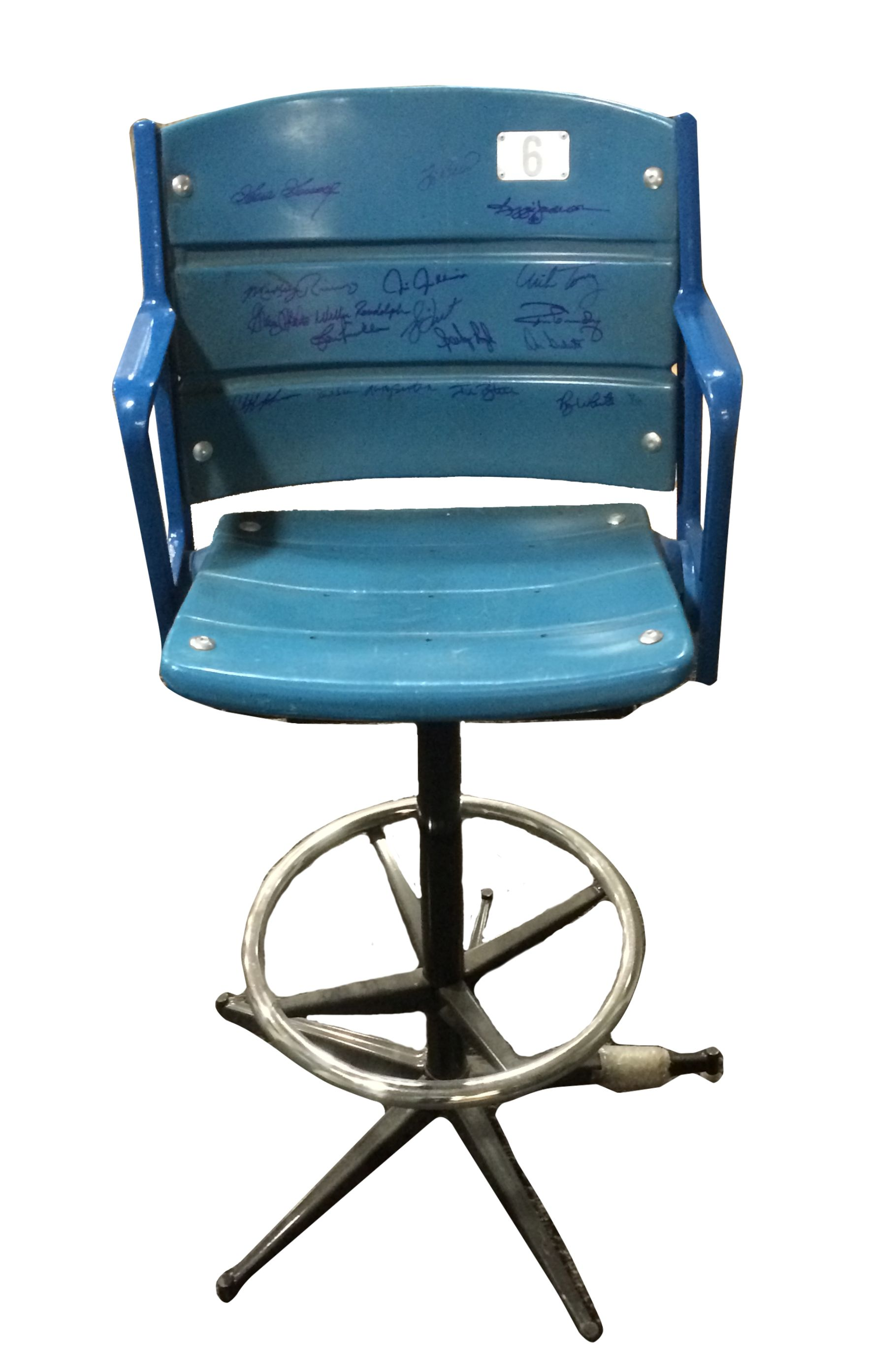 Lot Detail Multi Signed Bar Stool Made W An Authentic