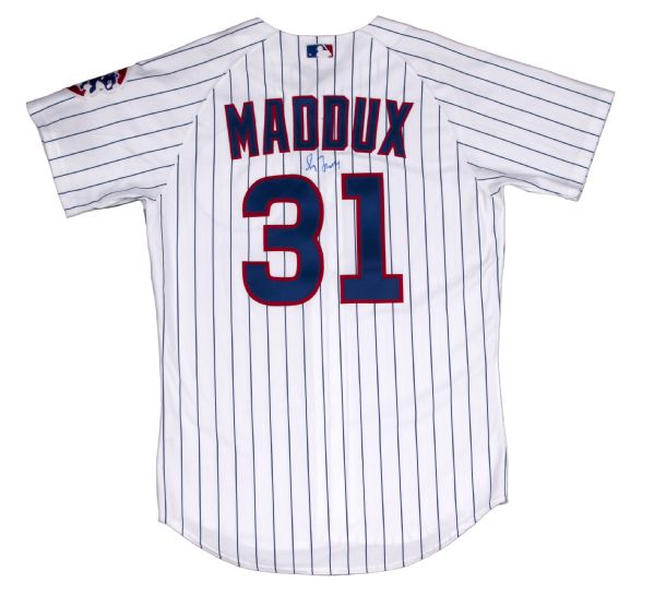 premium selection d952d 1d879 Lot Detail - Greg Maddux 2004 Chicago Cubs Game Used and ...