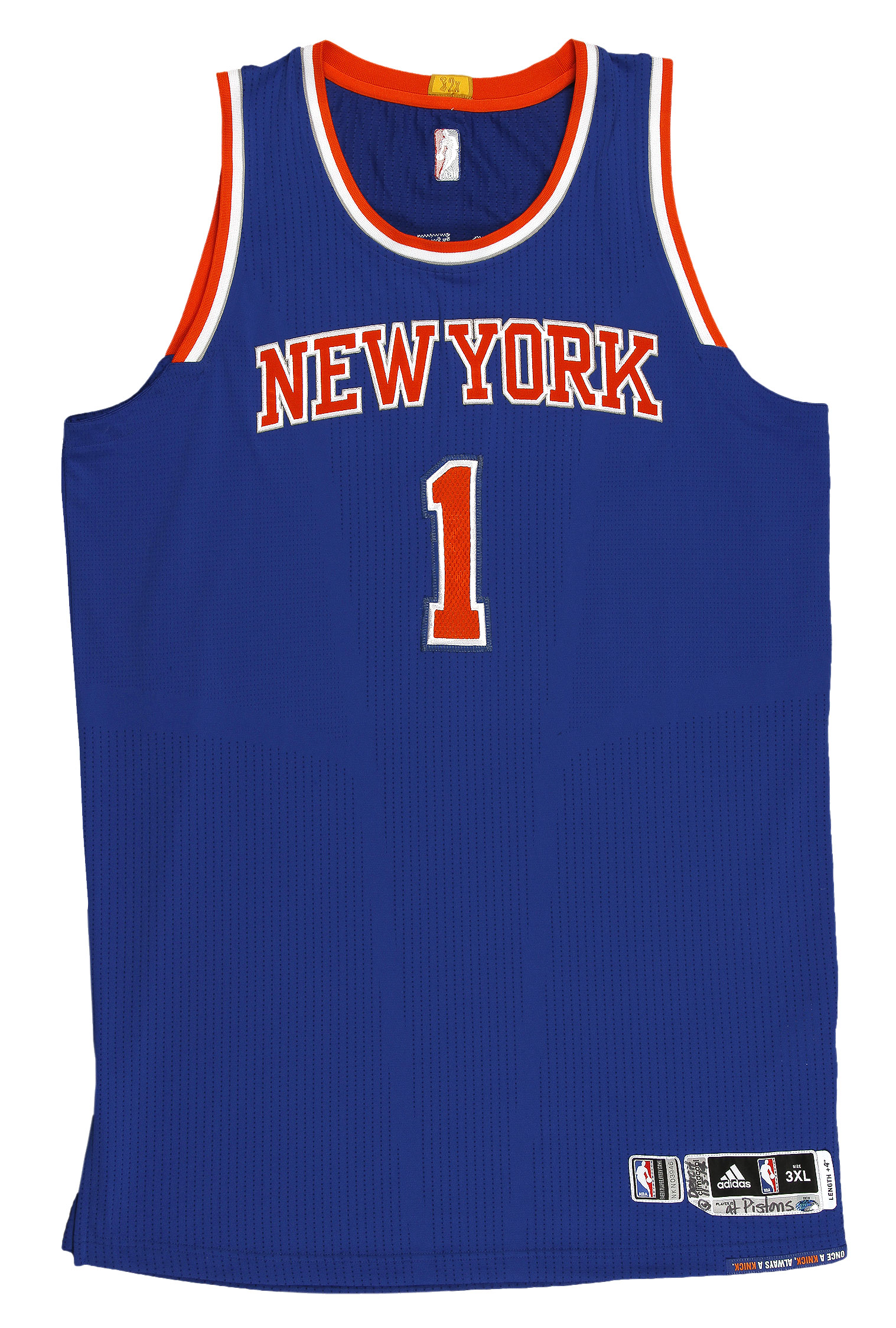 Lot Detail - 2014-2015 Amar'e Stoudemire Game Worn New York Knicks Road Jersey (Steiner)