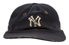 Circa 1932 Babe Ruth New York Yankees Game Worn Cap (Hat) (Mears LOA) Tremendous Provenance Dating Back to Joe McCarthy!