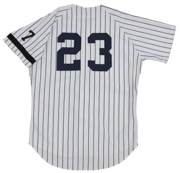 new product 649e5 22ddc Lot Detail - 1995 Don Mattingly Game Worn and Signed Jersey