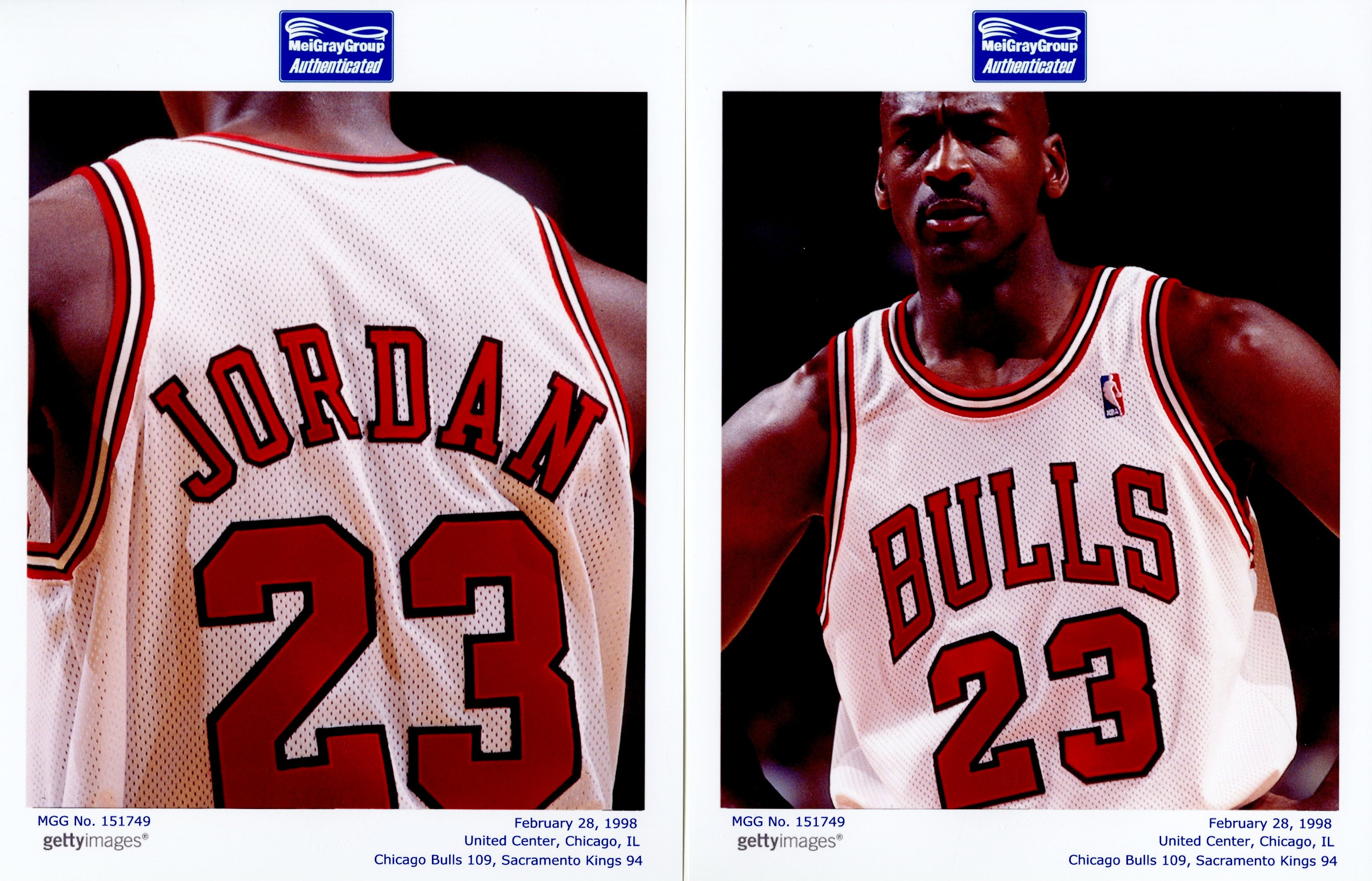 Lot Detail - Photo Matched 1997-1998 Michael Jordan Game Used and Signed Chicago  Bulls Home Jersey From Game Played Februrary 28 4e67deaea