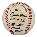 Andre Dawsons Game Used 200th Home Run Baseball(Dawson LOA)