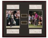 Arnold Palmer and Jack Nicklaus Match Used Scorecard