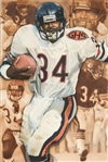 "Walter Payton ""Sweetness"" Original Painting by Rob Jackson - Produced for the Deacon Jones Foundation"