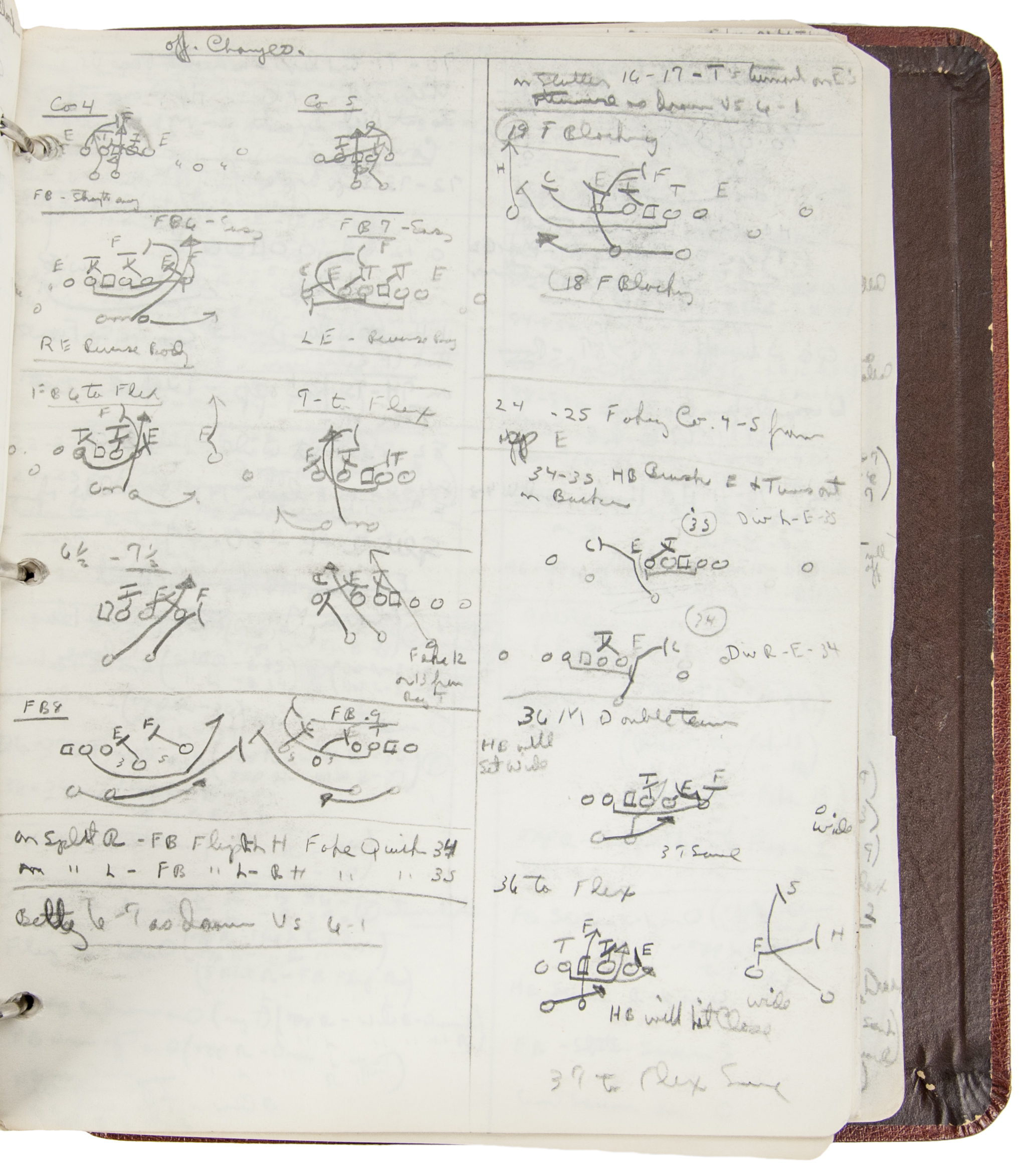 1954-56 Cleveland Browns Playbook Personally