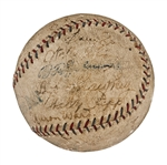 1923 New York Yankees World Champions Team Signed Baseball (27 Signatures) - Including Ruth, Huggins, Pennock and Hoyt (PSA/DNA)