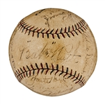 1927 New York Yankees World Champions Team Signed Official A.L. (Ban Johnson) Baseball (21 Signatures) - Including Ruth, Gehrig and Lazzeri (PSA/DNA)