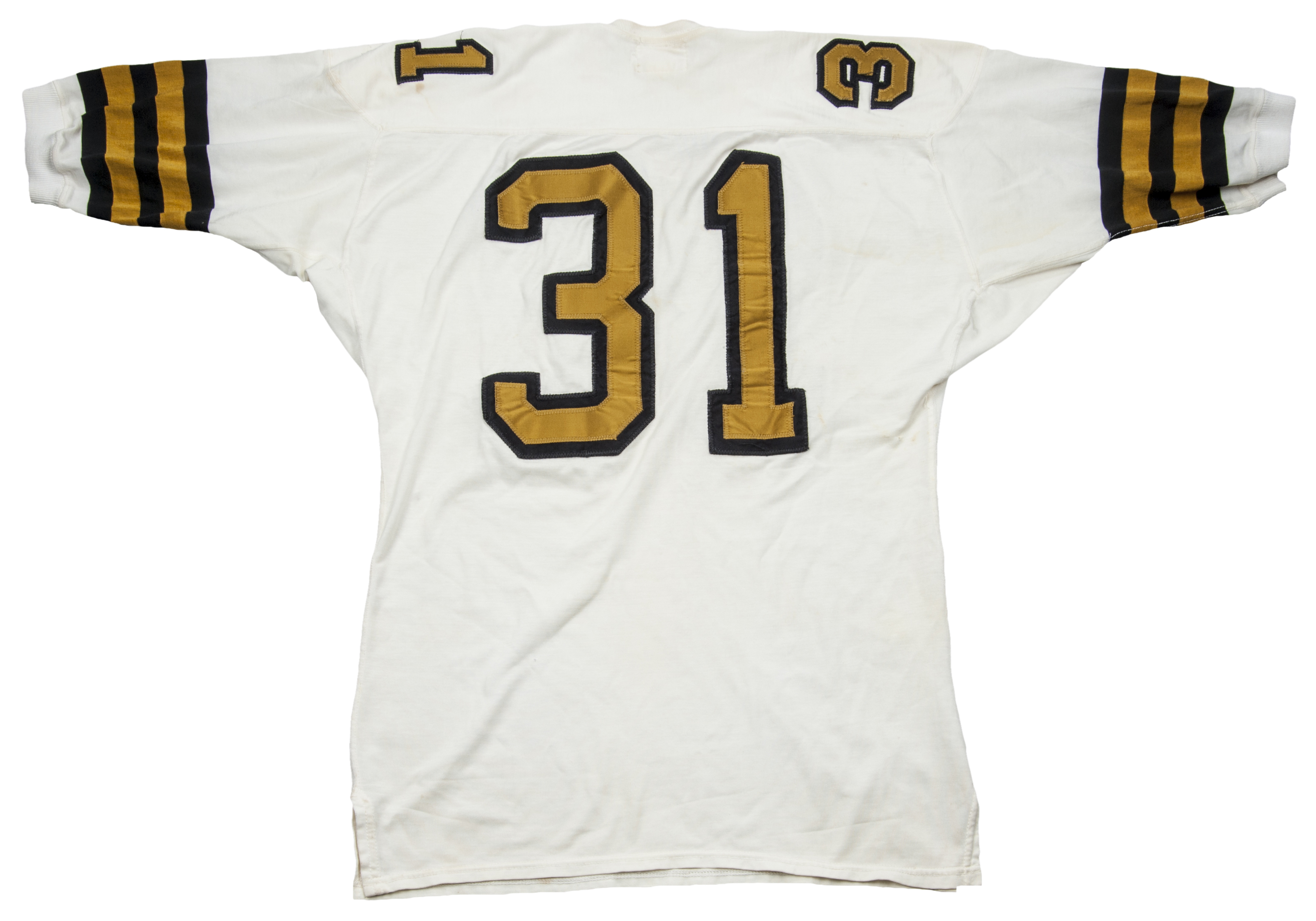 022c18de 1967 Jim Taylor Game Used New Orleans Saints White Jersey (MEARS A9.5)