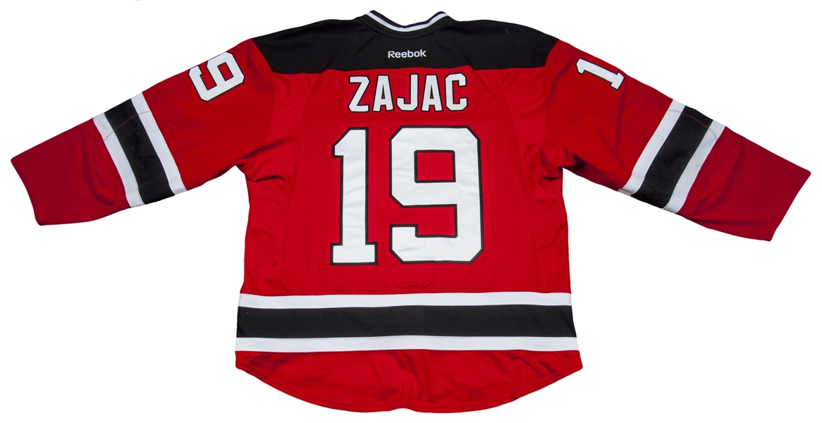 on sale 95b6e aa430 Lot Detail - 2014-15 Travis Zajac Game Used New Jersey ...