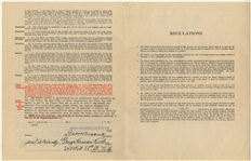 1933 Babe Ruth Signed and Executed New York Yankees Player Contract (PSA/DNA)
