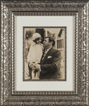 "1926 ""Babe Ruth with His Daughter"" Original Type 1 Photograph Framed"