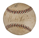 Babe Ruth Single Signed Official A.L. (William Harridge) Baseball (PSA/DNA)
