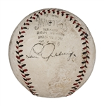1932 Babe Ruth and Lou Gehrig Dual Signed Official N.L. (John Heydler) Baseball (JSA)
