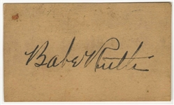 "Babe Ruth Signed ""American Society of Civil Engineers"" Membership Card (JSA)"