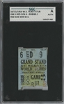 1916 World Series Game 5 Red Sox vs. Robins Title Clinching Ticket Stub - SGC Authentic (Babe Ruth W.S. Number 2 of 10)