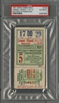 "1921 World Series Game 5 Yankees vs Giants Ticket Stub - ""Ruth Bunt Hit Winning Run"" - PSA Authentic (Babe Ruth W.S. Number 4 of 10)"