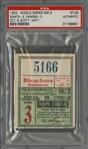 1922 World Series Game 3 Giants vs Yankees Ticket Stub - PSA Authentic (Babe Ruth W.S. Number 5 of 10)