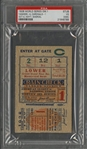 1928 World Series Game 1 Yankees vs. Cardinals Ticket Stub - PSA VG 3 (MK) (Babe Ruth W.S. Number 9 of 10)