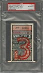 "1932 World Series Game 3 Yankees vs Cubs Ticket Stub - ""Babe Ruths Called Shot"" - PSA Authentic (Babe Ruth W.S. Number 10 of 10)"