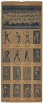 1925 W504 Universal Toy & Novelty New York Yankees Complete Set (16) on Uncut Sheet - Featuring Babe Ruth and Miller Huggins