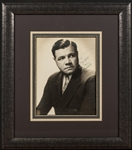 Babe Ruth Signed and Inscribed Oversized Studio Portrait In Frame (PSA/DNA Mint 9)