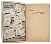 "1935 Quaker Oats ""Babe Ruths Big Book of Baseball"" - Signed by Babe Ruth (JSA)"
