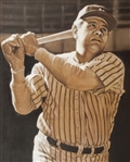 "Babe Ruth Original 30""x 40"" Framed Acrylic Painting by Garry Limuti"