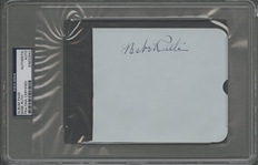 Babe Ruth Single Signed Album Page (PSA/DNA)