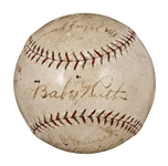 1925 New York Yankees Team Signed Official A.L. (Ban Johnson) Baseball (8 Signatures) - Including Ruth, Huggins, Dugan and Pipp (PSA/DNA)