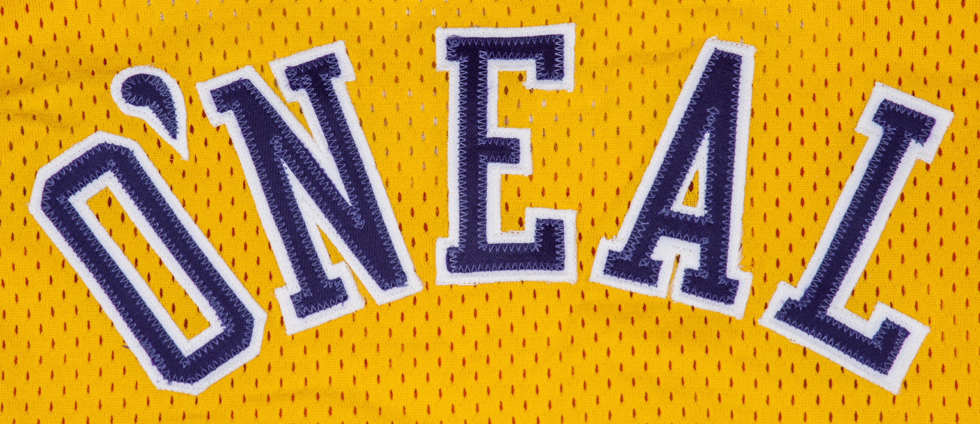 0fc3b865e 1996-1997 Shaquille ONeal Game Used and Signed Los Angeles Lakers Home  Jersey (MEARS. Prev Next