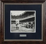 "1948 ""The Babe Bows Out"" Type 1 Original Photograph Signed By Nat Fein (Estate LOA)"