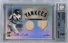 "2009 Topps Tribute ""Dual Relics"" #1 Babe Ruth Chase Card - BGS MINT 9"