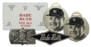 Mid-1930s Quaker Oats Babe Ruth Premiums Collection (6 Items)