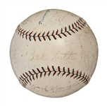 1926 New York Yankees American League Champions Team Signed Official A.L. (Ban Johnson) Baseball (26 Signatures) - Including Ruth, Gehrig, Huggins, Lazzeri and Combs (PSA/DNA)