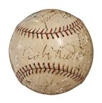1928 New York Yankees World Champions Team Signed Official A.L. (Ernest Barnard) Baseball (21 Signatures) - Including Ruth, Gehrig , Lazzeri, Durocher and Combs (PSA/DNA)