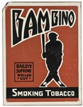 "Vintage Babe Ruth ""Bambino"" Baileys Supreme Rolled Cut Smoking Tobacco Sign"