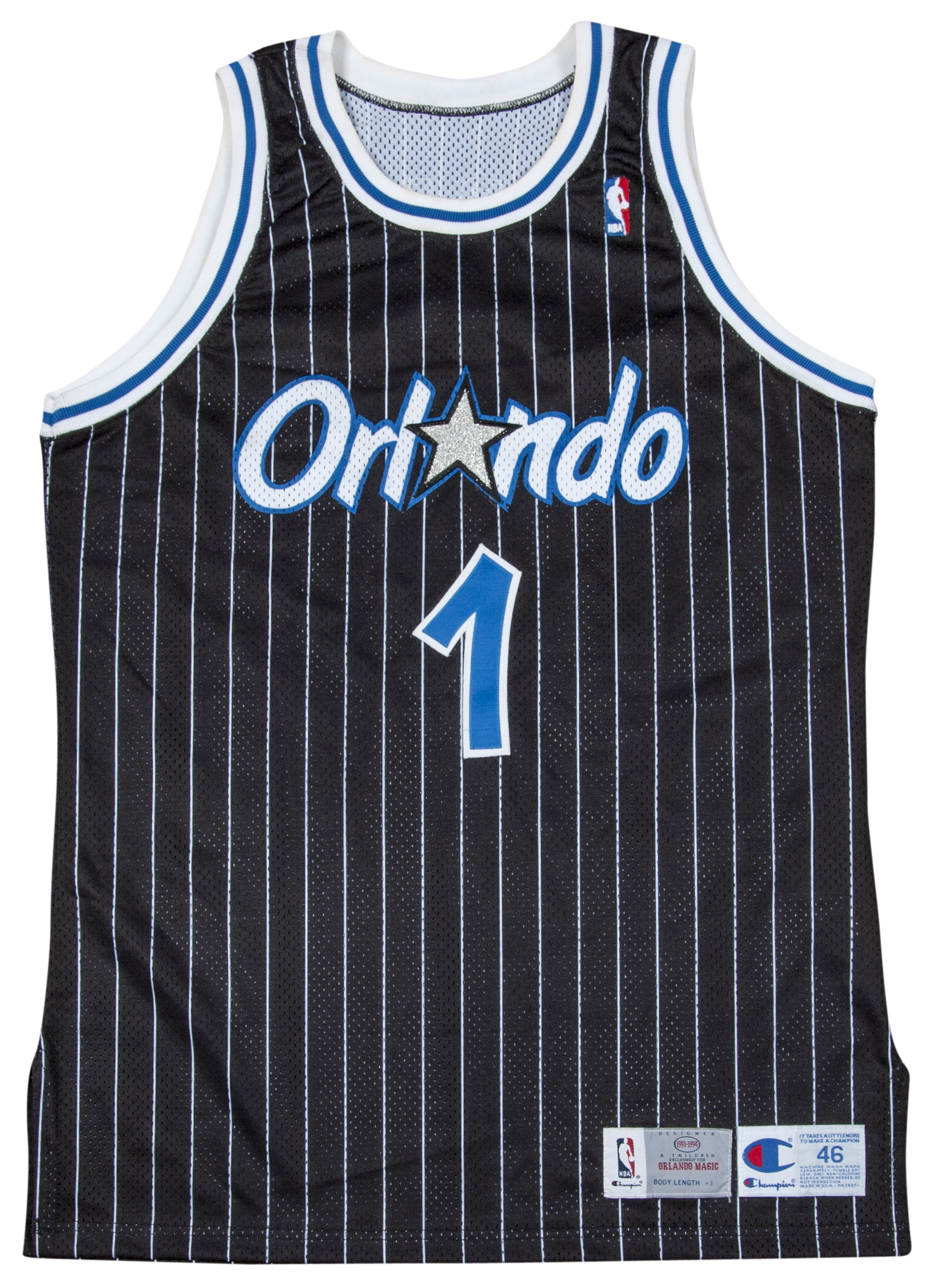 5c3c52050 1993-94 Anfernee Hardaway Game Used Orlando Magic Road Jersey. Hover to  zoom. Prev Next