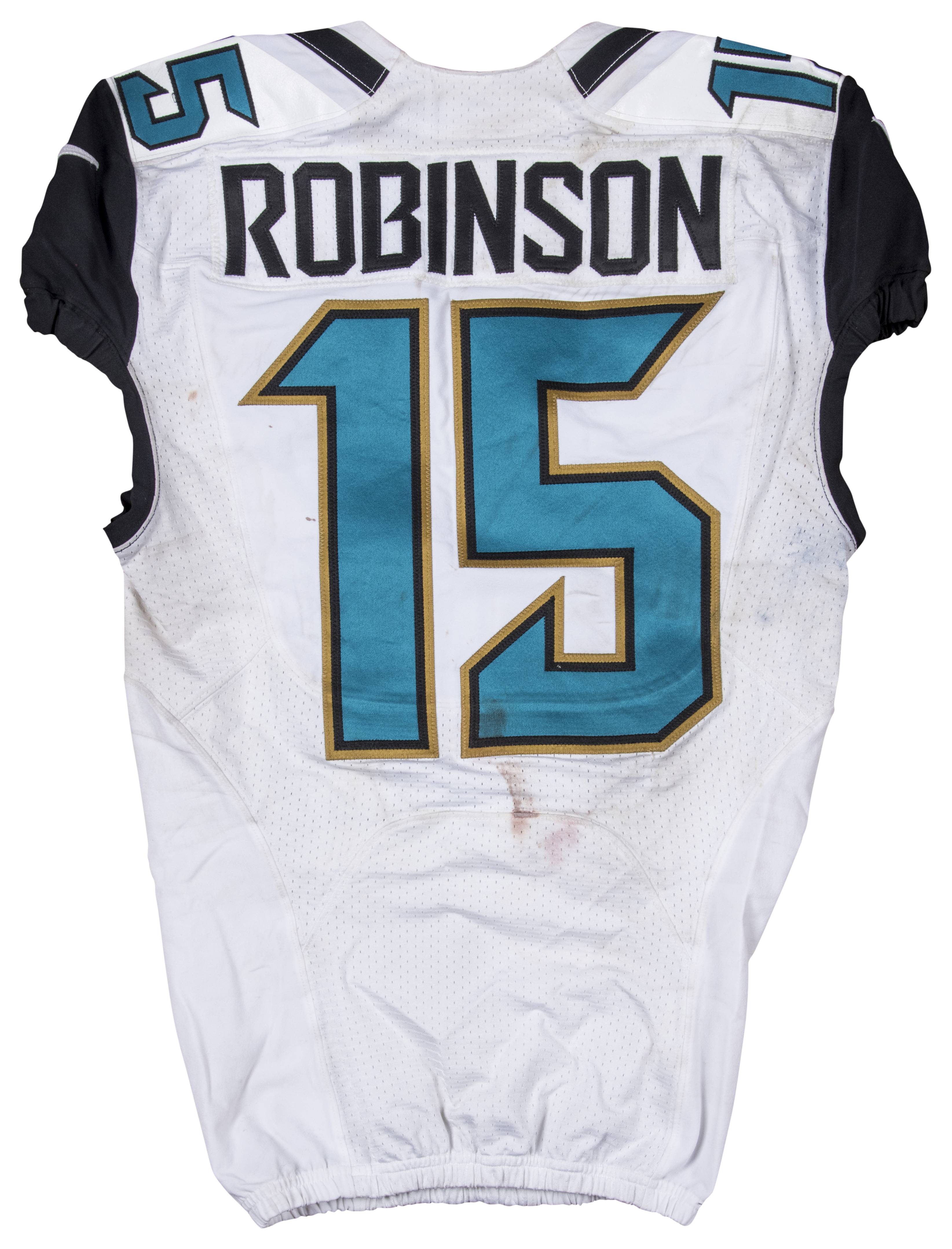 a651b6118 2015 Allen Robinson Game Used Jacksonville Jaguars Home Jersey. Hover to  zoom