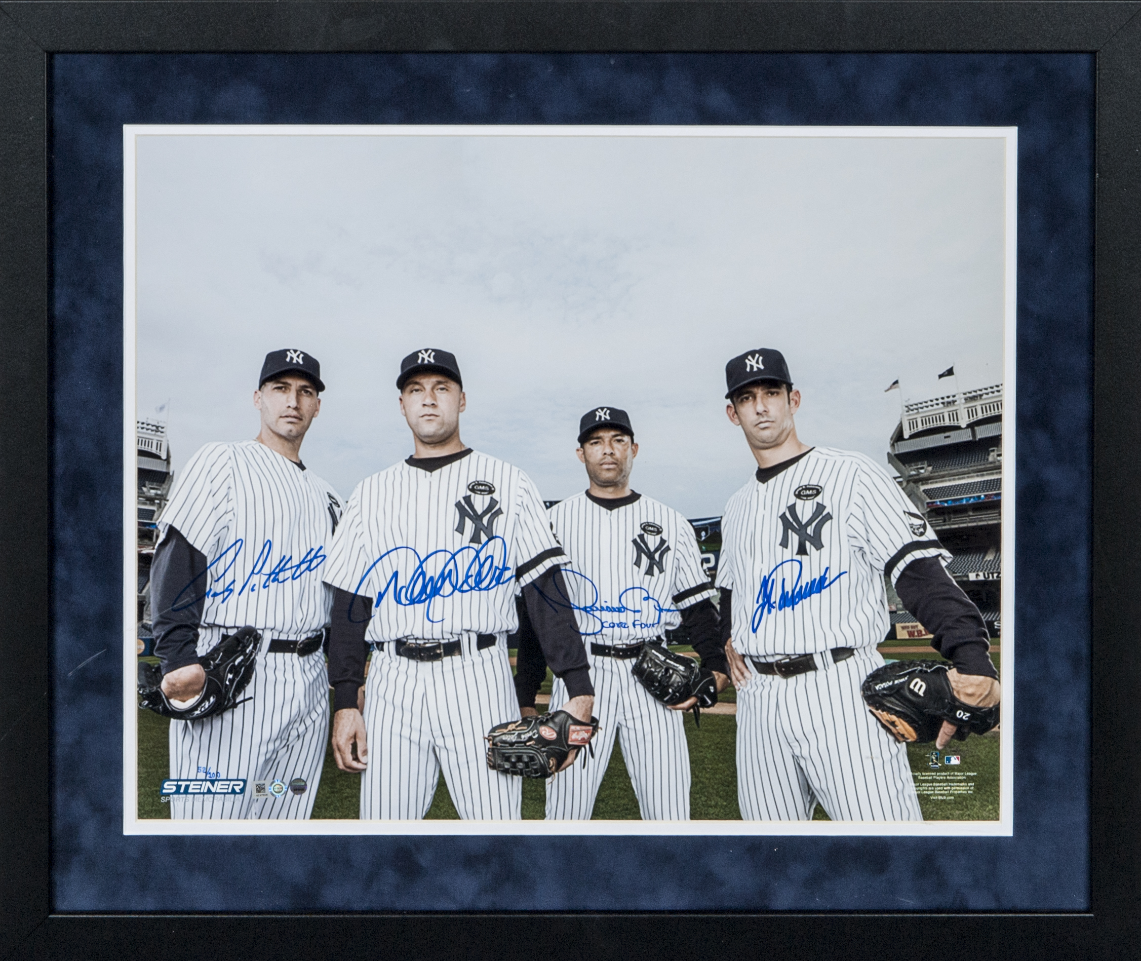 Lot Detail New York Yankees Quot Core 4 Quot Multi Signed Framed