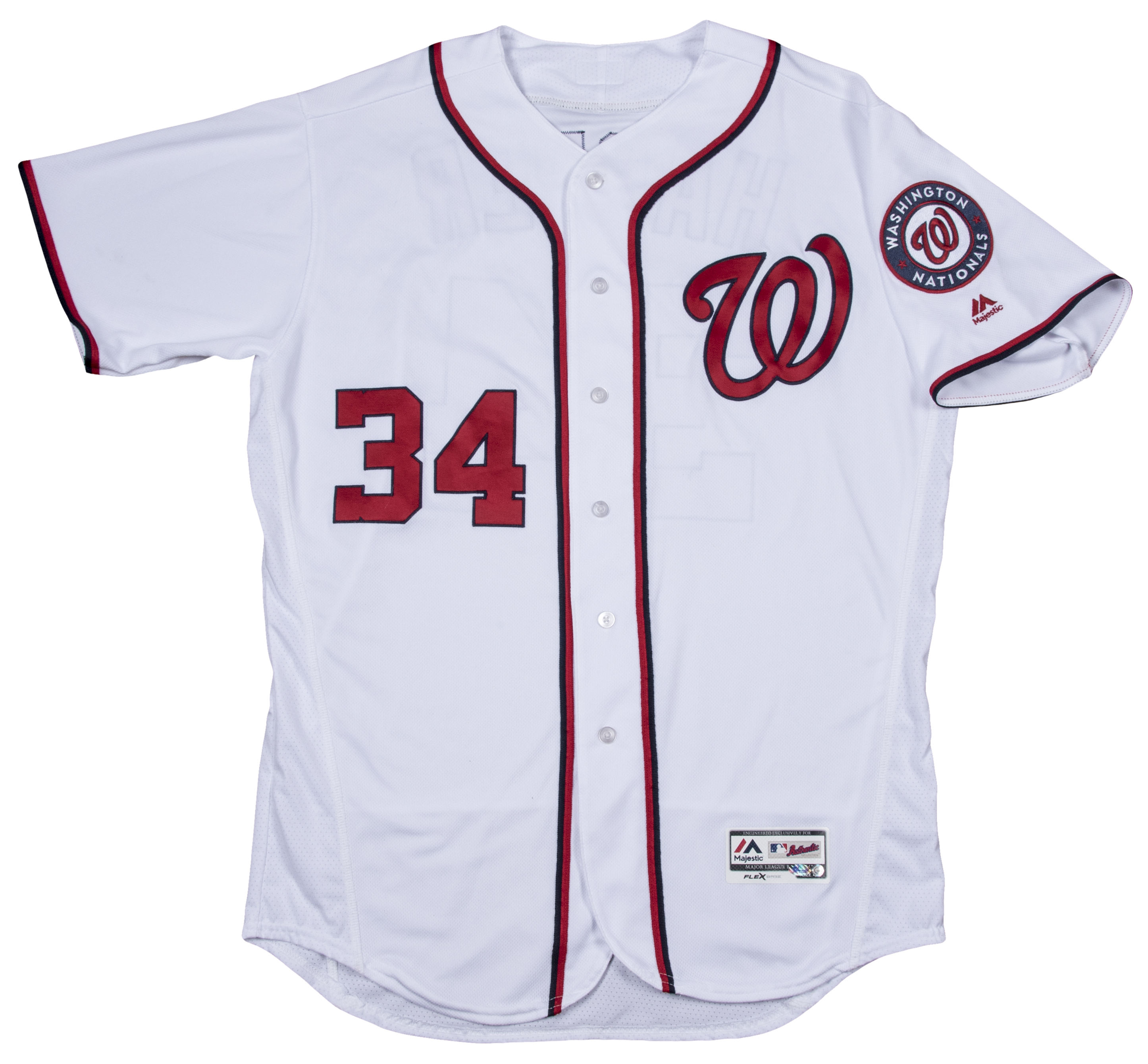 6b17baf98 2016 Bryce Harper Game Used Washington Nationals Opening Day Home Jersey  Worn On 4 7. Hover to zoom. Prev Next